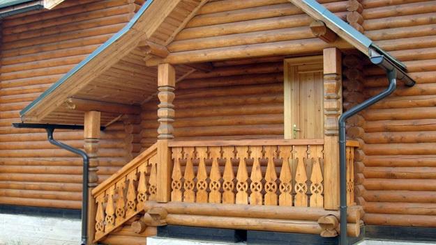 Крыльцо деревянного дома - фотогалерея разных вариантов 3