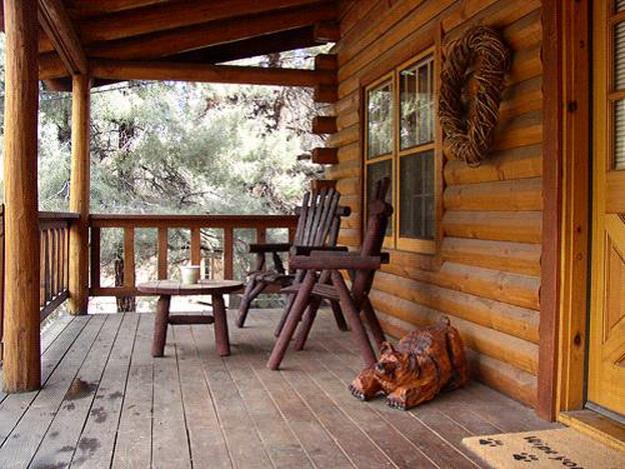 Крыльцо деревянного дома - фотогалерея разных вариантов 4