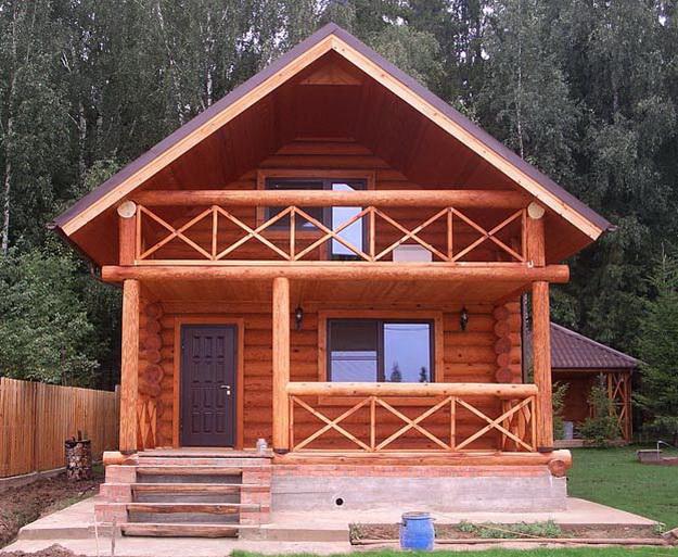 Крыльцо деревянного дома - фотогалерея разных вариантов 5