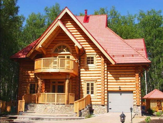 Крыльцо деревянного дома - фотогалерея разных вариантов 7
