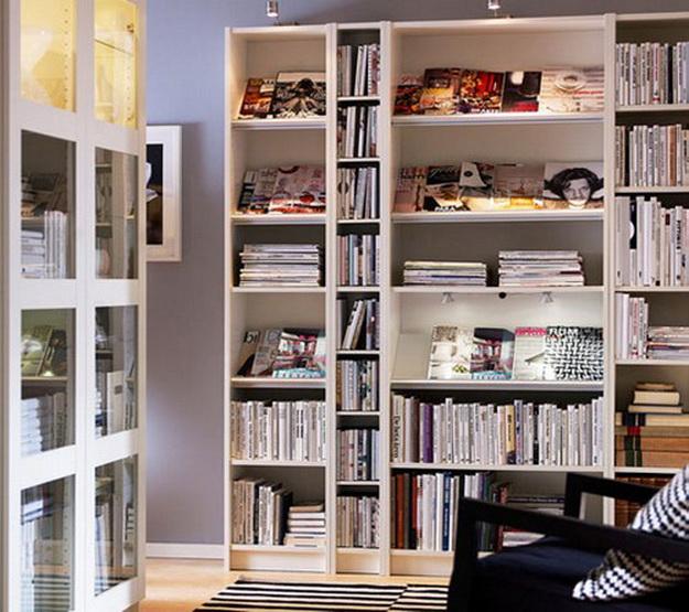 Деревянные стеллажи для дома – дизайн и варианты с фото 1