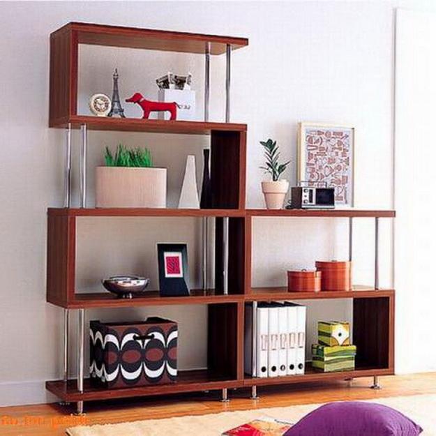 Деревянные стеллажи для дома – дизайн и варианты с фото 4