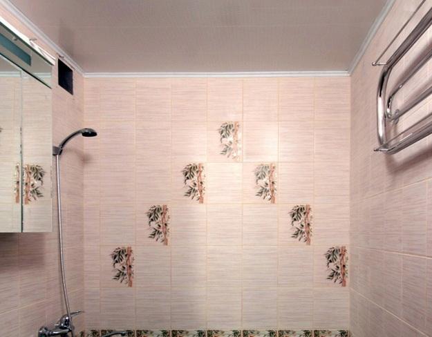 Пошаговый монтаж ПВХ панелей в ванной 7