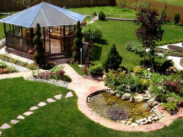 Интересный дизайн садового участка своими руками – фотогалерея и видео 7