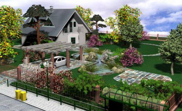 Ландшафтный дизайн небольшого участка перед домом - варианты и интересные решения 3