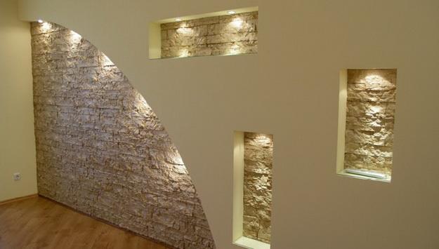 Правильная отделка стен гипсокартонном без каркаса и профиля 5