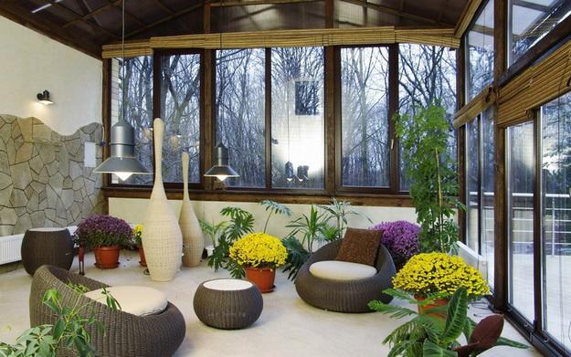 Прекрасный зимний сад в частном доме – фото и примеры 3