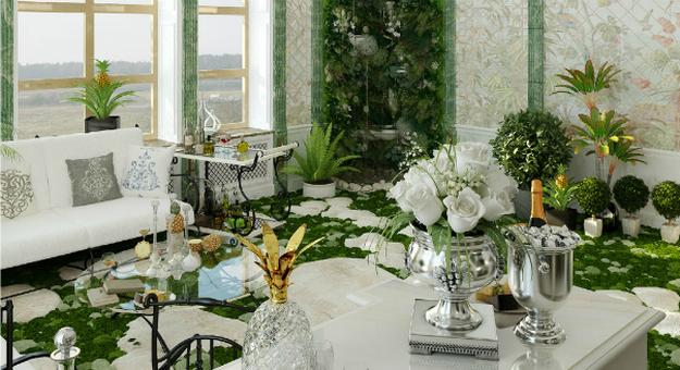Прекрасный зимний сад в частном доме – фото и примеры 4