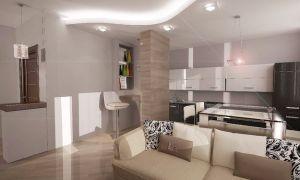 Дизайн проект – кухня гостиная 20 кв. м.