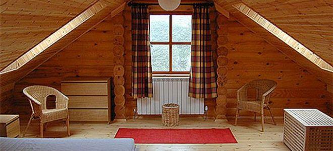 Интерьер мансарды в деревянном доме — Часть 2