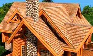 Крыша бревенчатого дома