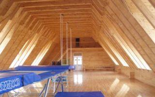 Интерьер мансарды в деревянном доме