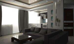 Хай-тек дизайн кухни гостиной на фото