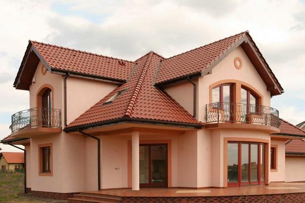 Lepe strehe zasebnih hiš fotografije