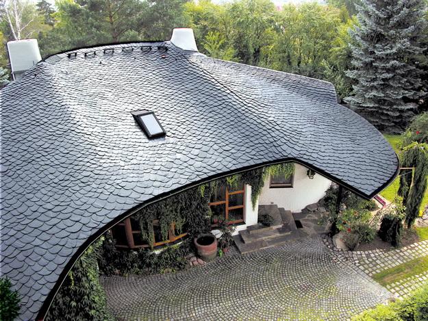 Необычные крыши домов крыша из сланца