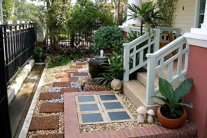 Как обустроить двор частного дома своими руками - фото и советы