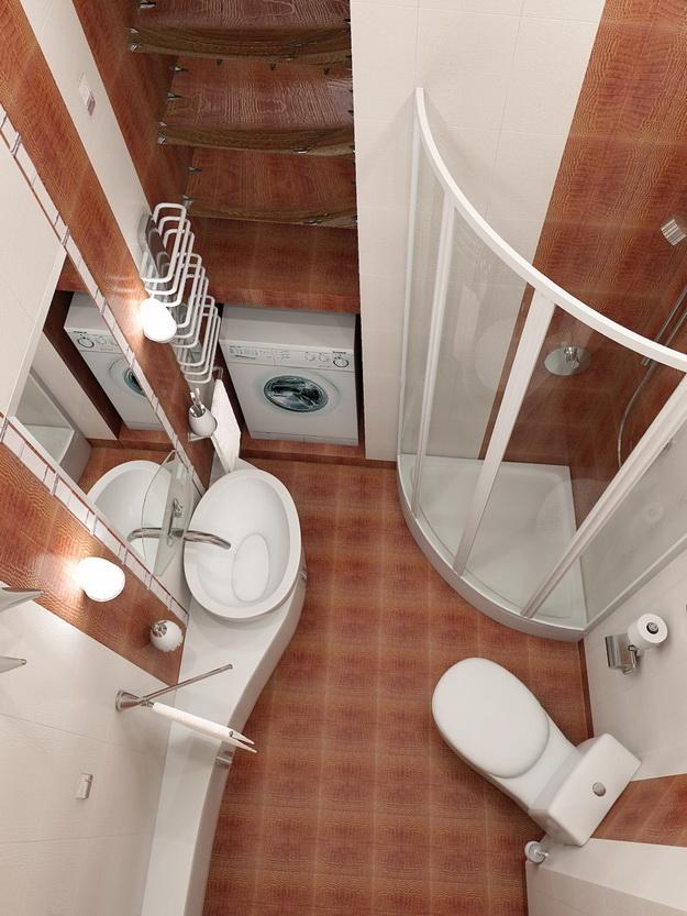 12 Интерьер ванной комнаты с кабиной 0