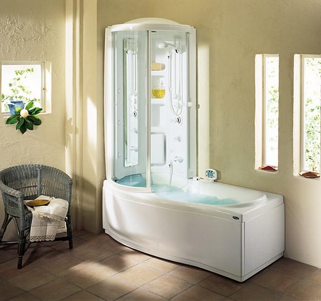 12 Интерьер ванной комнаты с кабиной 1