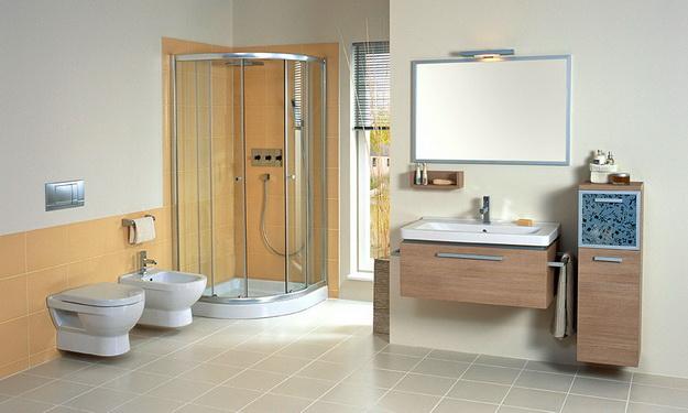 12 Интерьер ванной комнаты с кабиной 10