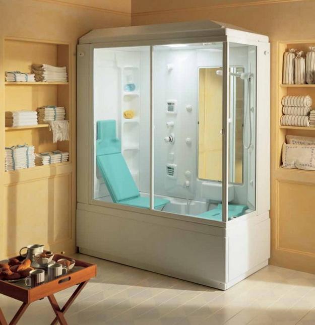 12 Интерьер ванной комнаты с кабиной 4
