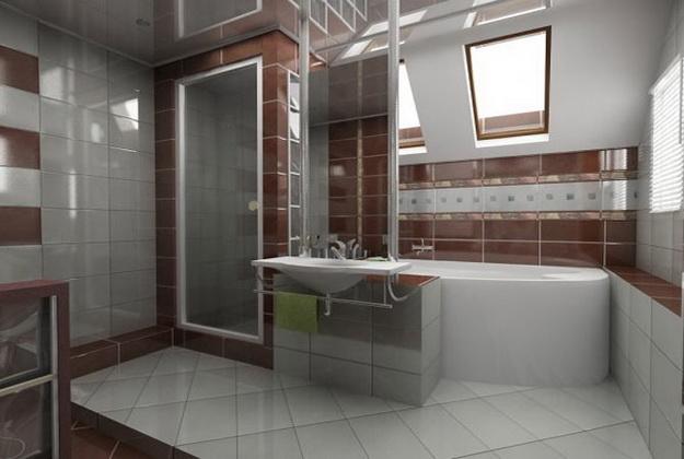 12 Интерьер ванной комнаты с кабиной 6