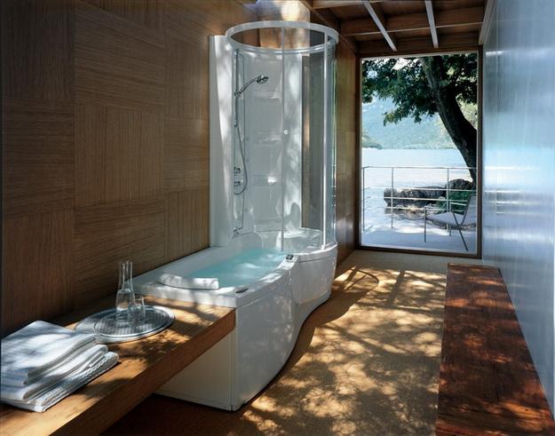 12 Интерьер ванной комнаты с кабиной А