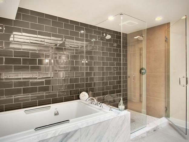 Дизайн интерьера ванной комнаты стекло 2