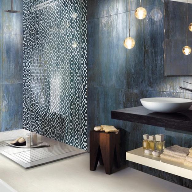 Дизайн интерьера ванной комнаты стекло 3
