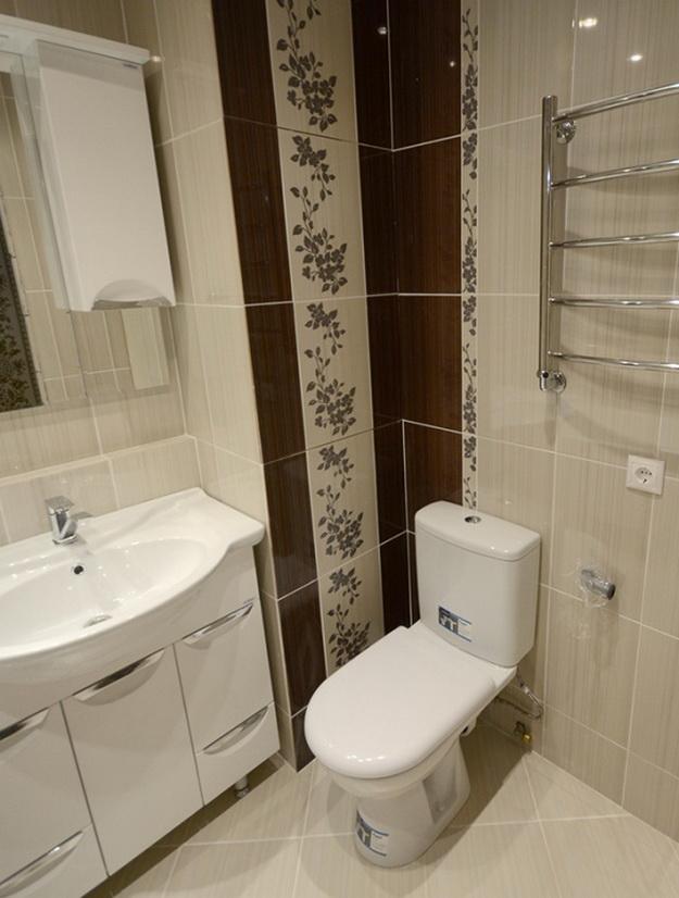 Дизайн ванной комнаты совмещенной с туалетом в панельном доме