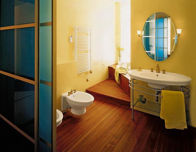 Дизайн ванной в деревянном доме 4