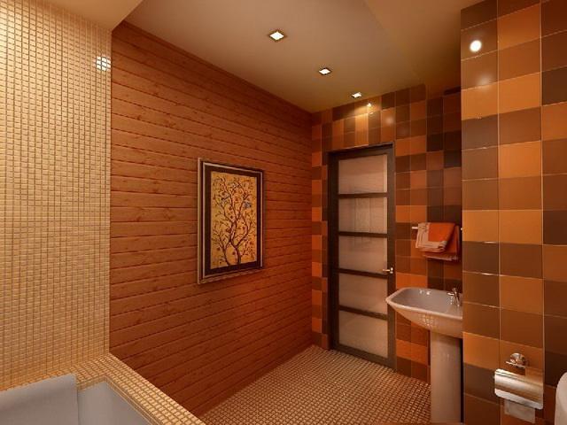 Дизайн ванной в деревянном доме 6