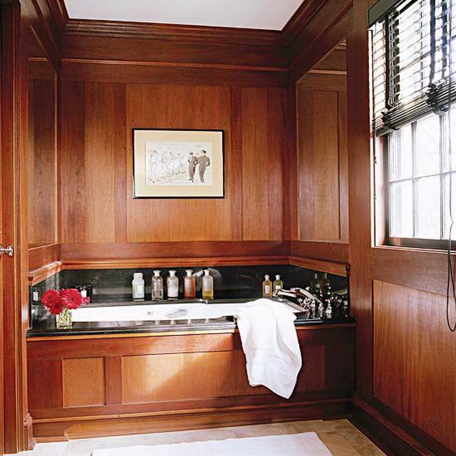 Дизайн ванной в деревянном доме 9
