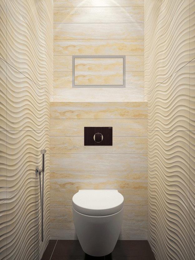 Интерьер маленького туалета фото 7