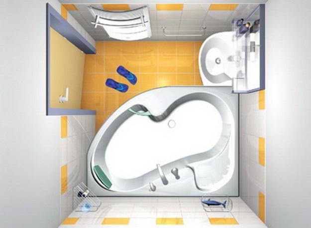 Интерьер маленькой ванной комнаты фото 3