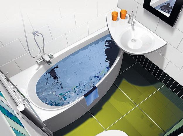 Интерьер маленькой ванной комнаты фото 4
