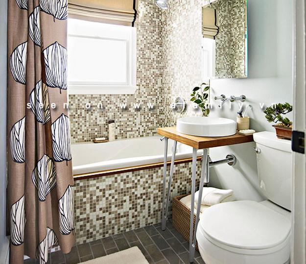 Интерьер маленькой ванной комнаты фото 5