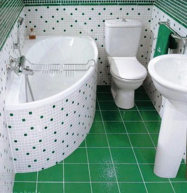 Интерьер маленькой ванной комнаты фото 8