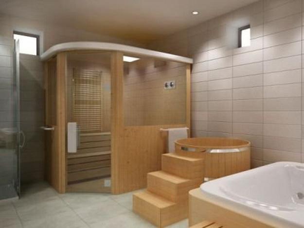 Дизайн туалета в кирпичном доме 2