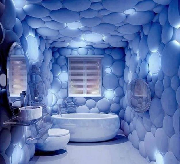 Дизайн туалета в кирпичном доме 6