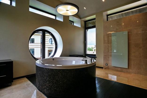 Дизайн туалета в кирпичном доме А