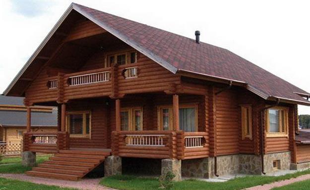 Дома из оцилиндрованного бревна фото 5