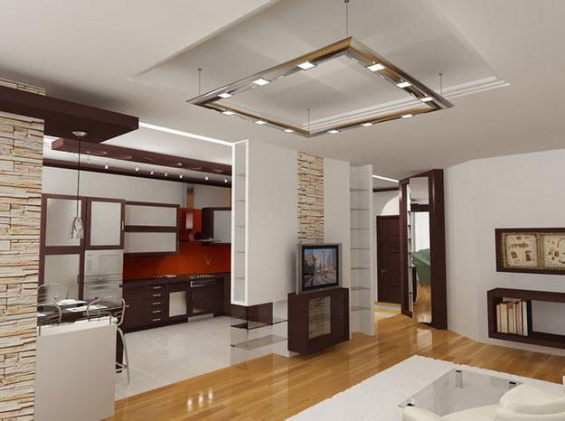 Когда гостиная и кухня вместе – фото удачных вариантов 2