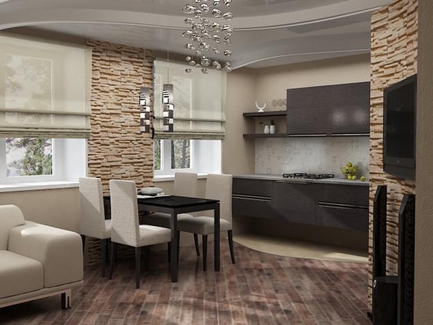 Когда гостиная и кухня вместе – фото удачных вариантов 3