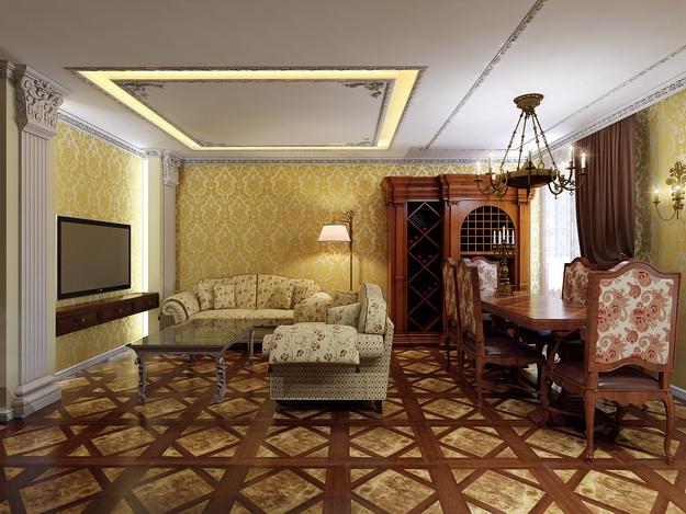 Интерьер гостиной в классическом стиле 6