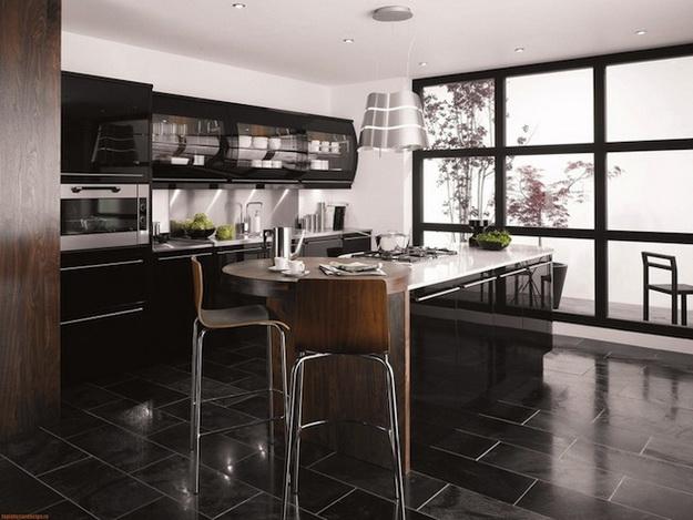 Дизайн гостиных, совмещенных с кухней, в частных домах 3