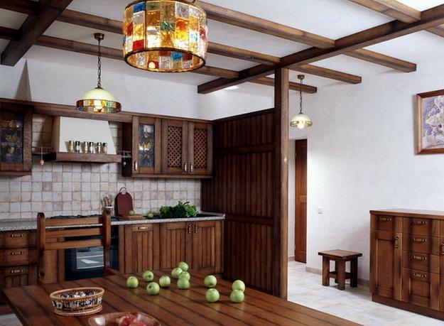 Кантри-кухня в частном доме и в городской квартире 2