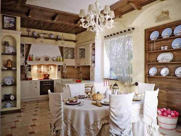 Кантри-кухня в частном доме и в городской квартире 3