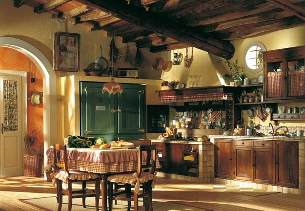 кухня в частном доме с печкой фото