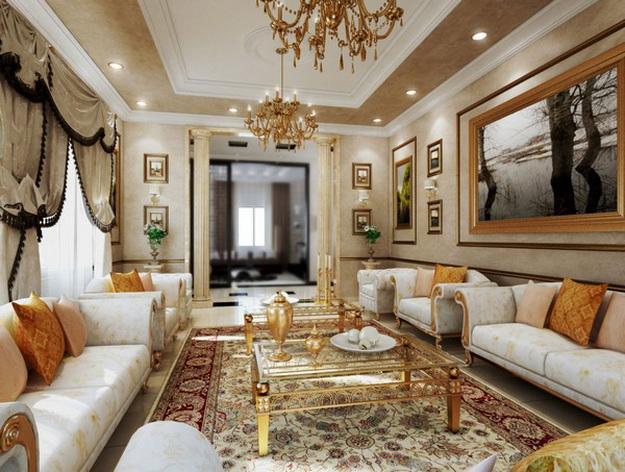 Классические интерьеры гостиных в современных квартирах 4