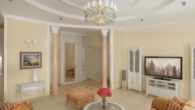 Классические интерьеры гостиных в современных квартирах 8